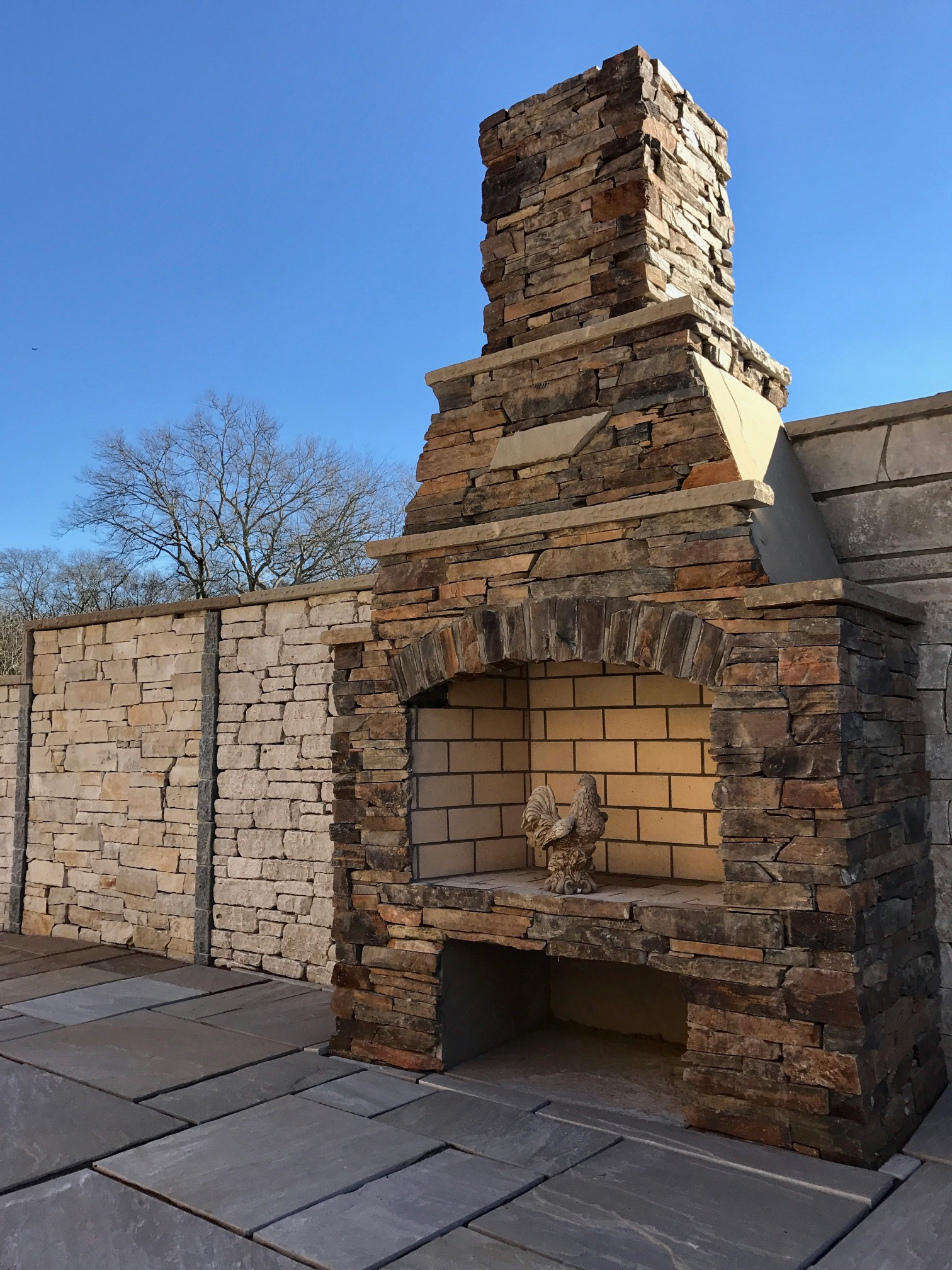 Outdoor Fireplaces J R Garden Stone And Rental Inc